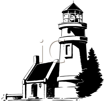black and white image of a lighthouse royalty free clipart picture rh clipartguide com free clipart lighthouse lighthouse clipart light