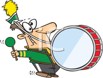royalty free clip art image cartoon of a goofy guy in a marching band rh clipartguide com marching clipart ants marching clipart