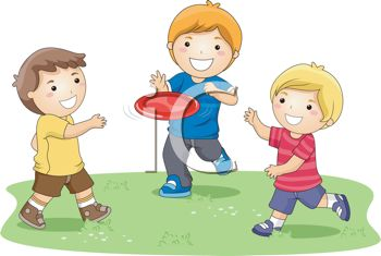 Boys Playing Frisbee