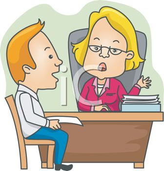 Cartoon of a Man in a Job Interview