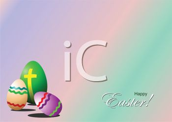 Coled Eggs on an Easter Background