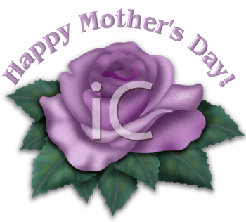 Happy Mother's Day Design with a Lavender Rose