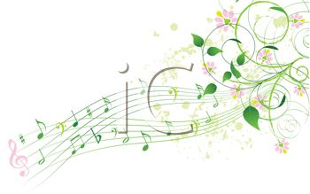 Elegant Music Notes with a Floral Design