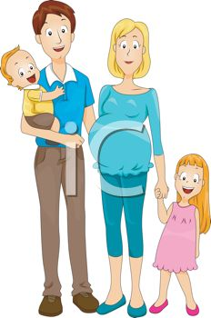 Expecting A Baby Clipart Young Family Expecting...