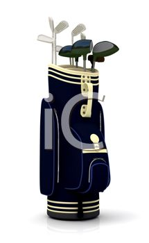 Realistic Bag of Golf Clubs