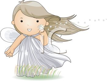 Little Faerie Holding a Dandelion Puff