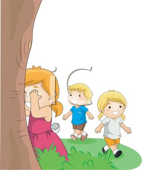 Children Playing Hide and Go Seek