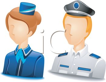 Occupation Avatar for Flight Attendant and Pilot