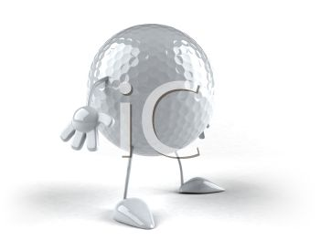 3D Golf Ball with Arms and Legs