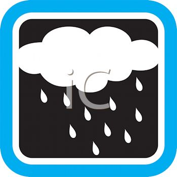 Weather Icon Showing a Rain Cloud