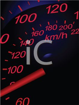 Speedometer of a Sports Car