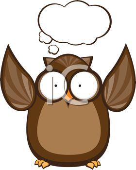 Cute Cartoon Owl with a Conversation Bubble