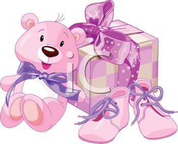 Baby Shower Gifts For A Girl Royalty Free Clipart Image