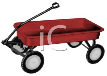 Vintage or Retro Red Wagon