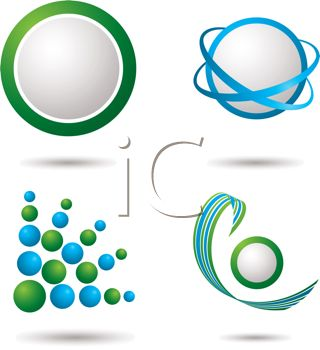 Blue and Green Logo Design Elements