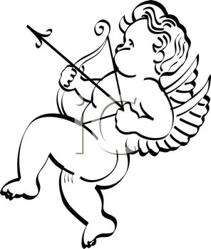 Little Nude Cupid Shooting His Arrow of Love