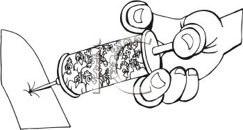 Coloring Page of a Shot in the Arm with a Hypodermic Needle
