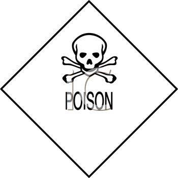 Poison Symbol Sign With Skull And Crossbones Symbol Royalty Free