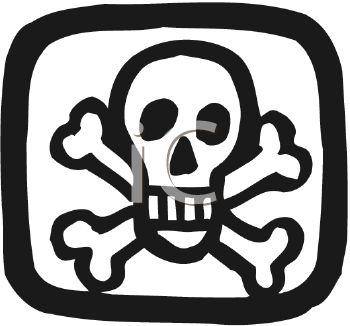 Poison Symbol or Pirate Flag with Skull and Crossbones - Royalty ...