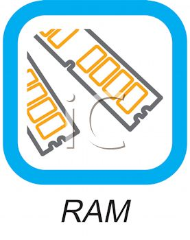 Access memory chips for a computer - royalty free clip art picture