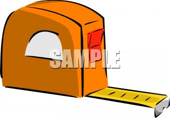 Orange carpenters tape measure