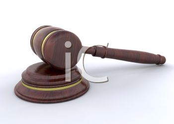 Judges mallet or gavel symbolizing the power of a judge in the legal system