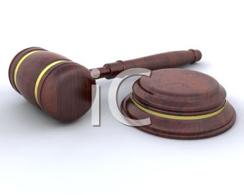Judges gavel or mallet after a verdict has been rendered in a court of law