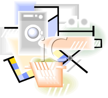 Set of Laundry Icons and Graphics