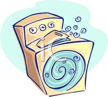 Household Clothes Washer or Washing Machine Doing the Laundry