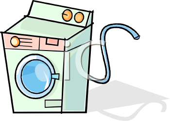 Cartoon Clothes Washer or Front Loading Washing Machine - Royalty ...
