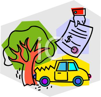 car crashed into a tree with an auto insurance policy that will take rh clipartguide com life insurance clip art medical insurance clip art