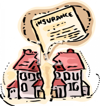 Homeowners Insurance Graphic Showing a House Split in Two