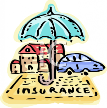 Umbrella Symbolizing the Protection That Insurance Provides for Autos and Home