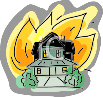 flames coming from a house on fire fire insurance homeowners rh clipartguide com  free house on fire clipart