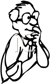 old man happily pondering the questions of life thinking royalty rh clipartguide com black man thinking clipart stick man thinking clipart