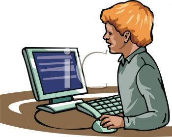 royalty free clip art image small boy using a pc computer rh clipartguide com clipart of computer email clip art of computers and phones