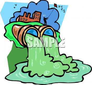 water pollution from a factory and industry pours out of pipes and rh clipartguide com  air pollution pictures clip art