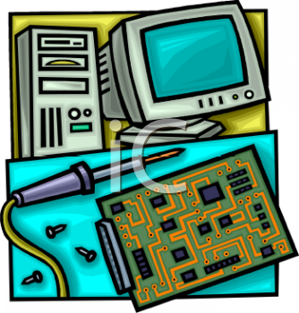 repair of a circuit board used in a pc computer royalty free clip rh clipartguide com computer repair shop clipart