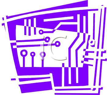 Simple Concept Drawing of Circuits Within a Circuit Board - Royalty ...