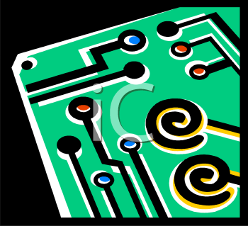 Simple drawing of a circuit board