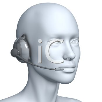 Rendered human figure wearing a headset as a customer support operator would