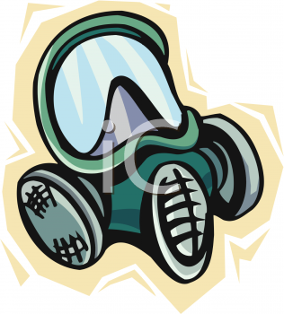 Gas Mask - Royalty Free Clipart Image