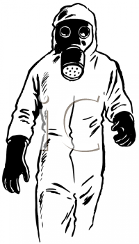 royalty free clip art image person wearing a biohazard suit with a rh clipartguide com skull gas mask clip art gas mask war clipart
