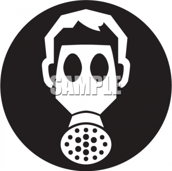 royalty free clipart image icon of a person wearing a gas mask rh clipartguide com gas mask clipart gas mask girl clipart