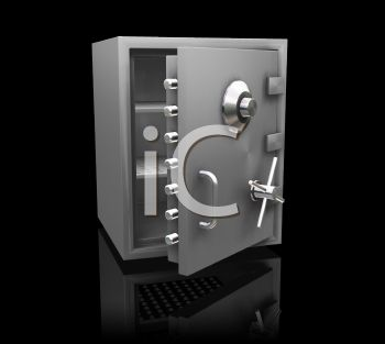 3-D rendering of a large and secure safe