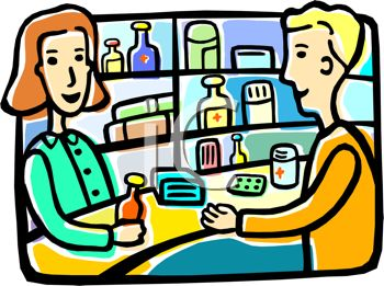 Clip Art Customer Clipart a pharmacy worker discussing prescription with customer royalty free clip art picture