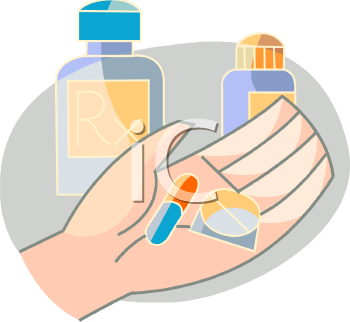 a person holding prescription pills in the palm of their hand