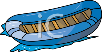 cartoon clip art of a raft sitting in the water