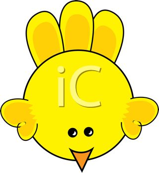 cartoon clip art of a yellow bird
