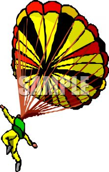 illustration of a man skydiving